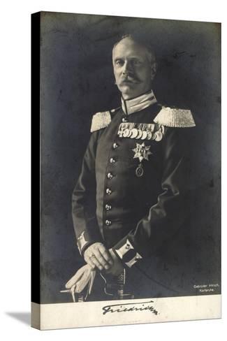 Herzog Friedrich Ii Von Baden in Uniform, Portrait--Stretched Canvas Print