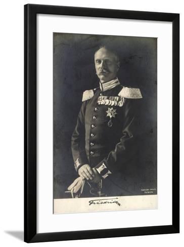 Herzog Friedrich Ii Von Baden in Uniform, Portrait--Framed Art Print