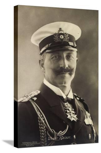 Deutscher Kaiser Wilhelm Ii in Seemannsuniform--Stretched Canvas Print