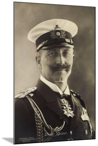 Deutscher Kaiser Wilhelm Ii in Seemannsuniform--Mounted Giclee Print