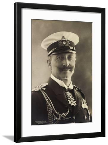 Deutscher Kaiser Wilhelm Ii in Seemannsuniform--Framed Art Print