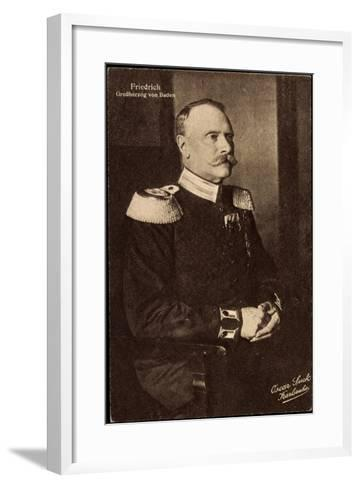Friedrich II, Der Letzte Großherzog Von Baden--Framed Art Print