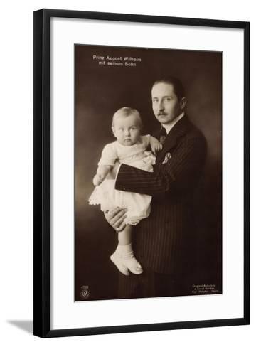 Prinz August Wilhelm V. Preußen Mit Seinem Sohn, Npg--Framed Art Print