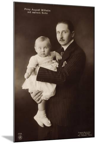 Prinz August Wilhelm V. Preußen Mit Seinem Sohn, Npg--Mounted Giclee Print