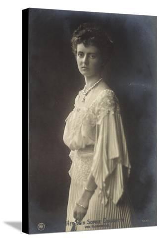 Herzogin Sophie Charlotte Von Oldenburg Im Kleid--Stretched Canvas Print