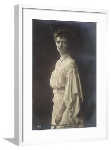 Herzogin Sophie Charlotte Von Oldenburg Im Kleid--Framed Art Print