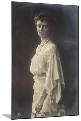 Herzogin Sophie Charlotte Von Oldenburg Im Kleid--Mounted Giclee Print