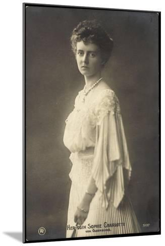 Herzogin Sophie Charlotte Von Oldenburg, Rph 5137--Mounted Giclee Print