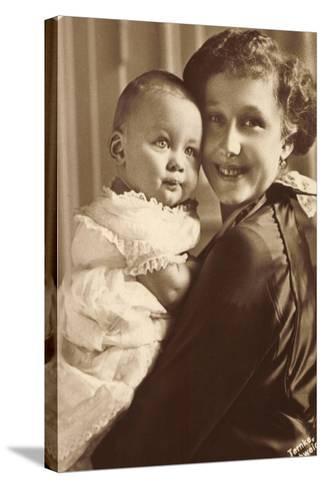 Herzogin Viktoria Luise Mit Ihrem Sohn, Wohlfahrt--Stretched Canvas Print