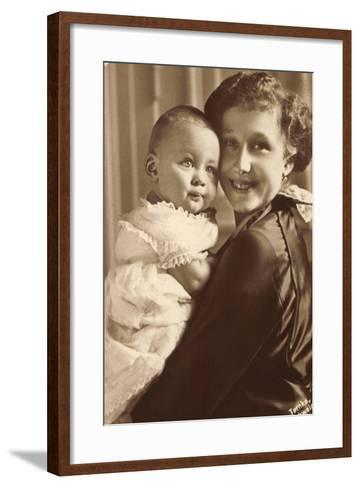 Herzogin Viktoria Luise Mit Ihrem Sohn, Wohlfahrt--Framed Art Print