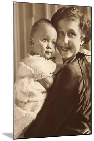 Herzogin Viktoria Luise Mit Ihrem Sohn, Wohlfahrt--Mounted Giclee Print
