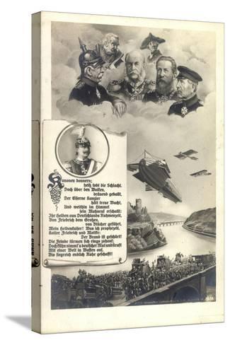 Künstler Hohenzollern, Preußische Kaiser, Zeppelin--Stretched Canvas Print