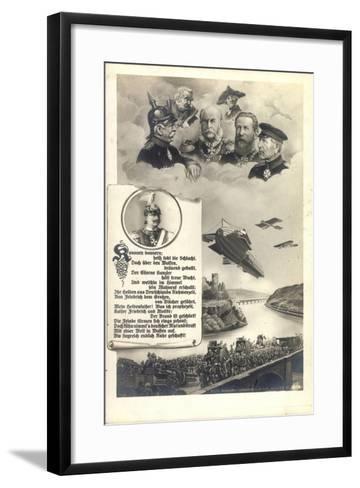 Künstler Hohenzollern, Preußische Kaiser, Zeppelin--Framed Art Print