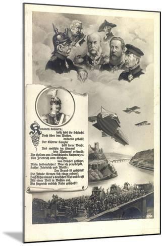 Künstler Hohenzollern, Preußische Kaiser, Zeppelin--Mounted Giclee Print