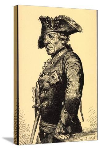 K?nstler Menzel, A., Friedrich Der Gro?e V Preu?en--Stretched Canvas Print