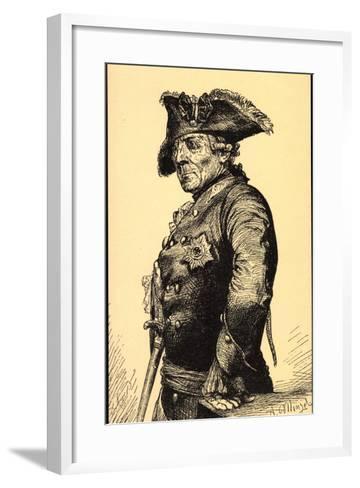 K?nstler Menzel, A., Friedrich Der Gro?e V Preu?en--Framed Art Print
