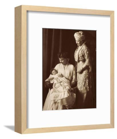 Cecilie Mit Kind, Kaiserin Victoria, Cecilienhilfe--Framed Art Print