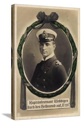 Passepartout Kapitänleutnant Weddigen, U 29, Heldentod--Stretched Canvas Print