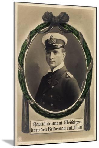 Passepartout Kapitänleutnant Weddigen, U 29, Heldentod--Mounted Giclee Print
