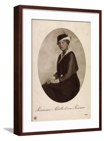 Passepartout Prinzessin Adalbert V Preußen, Npg 5418--Framed Art Print