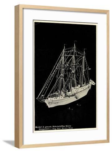 Modell Des Gesunkenen Segelschulschiffes Niobe--Framed Art Print