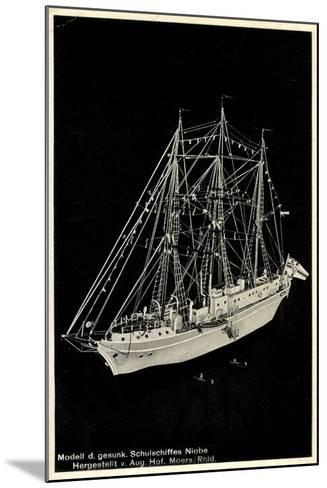 Modell Des Gesunkenen Segelschulschiffes Niobe--Mounted Giclee Print