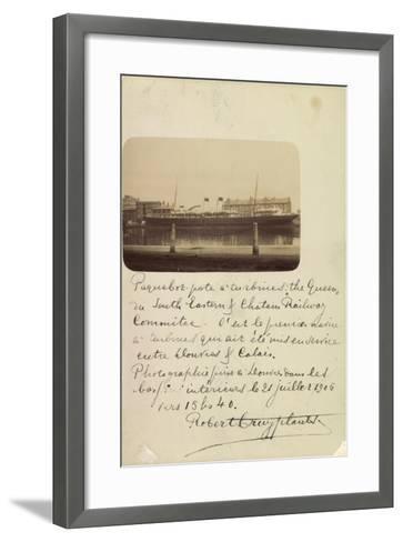 National Line, Steamship Co., Steamer, the Queen--Framed Art Print