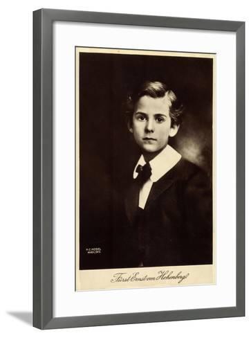 K?nstler Kosel, H., F?rst Ernst Von Hohenberg--Framed Art Print