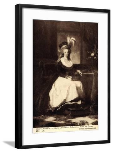 K?nstler Lebrun, Marie Antoinette D'Autriche, Reine--Framed Art Print