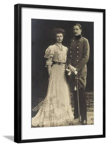 Prinz Eitel Friedrich Mit Herzogin Sophie Charlotte--Framed Art Print