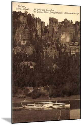 Rathen Sächs. Schweiz, Dampfer Dresden, Felsen--Mounted Giclee Print