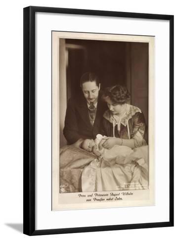Prinz Und Prinzessin August Wilhelm Von Preußen--Framed Art Print