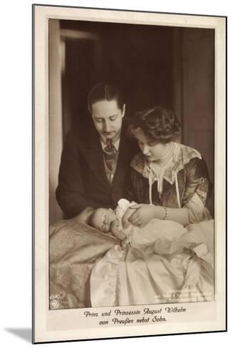 Prinz Und Prinzessin August Wilhelm Von Preußen--Mounted Giclee Print