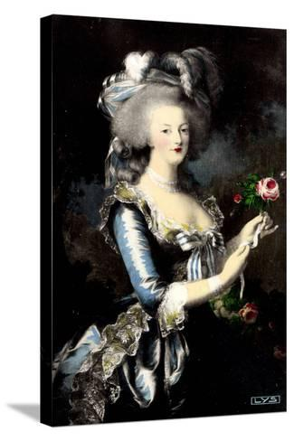 K?nstler Portrait Von Marie Antoinette ? La Rose--Stretched Canvas Print