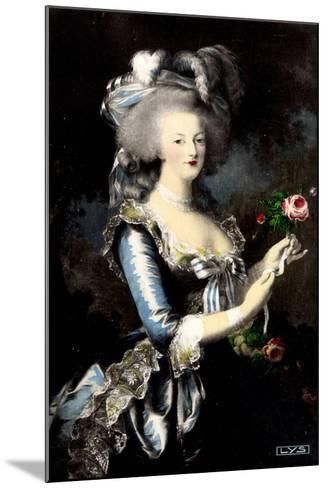 K?nstler Portrait Von Marie Antoinette ? La Rose--Mounted Giclee Print