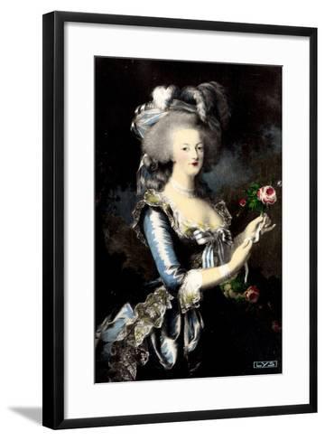 K?nstler Portrait Von Marie Antoinette ? La Rose--Framed Art Print