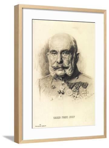 Künstler Kaiser Franz Josef I. Von Österreich, Rph 13--Framed Art Print