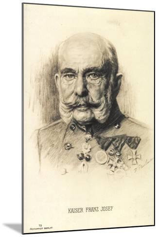 Künstler Kaiser Franz Josef I. Von Österreich, Rph 13--Mounted Giclee Print