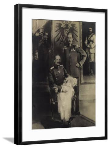 F?nf Generationen Von Prinzen, Adler, Kind--Framed Art Print