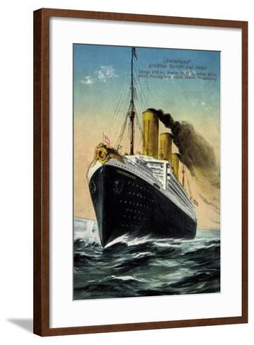 Hapag, Dampfschiff Vaterland, Größtes Schiff Der Welt--Framed Art Print