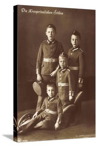 Die Vier Kronprinzlichen Söhne in Uniform, Npg--Stretched Canvas Print