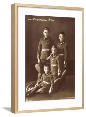 Die Vier Kronprinzlichen Söhne in Uniform, Npg--Framed Art Print