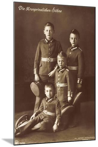 Die Vier Kronprinzlichen Söhne in Uniform, Npg--Mounted Giclee Print