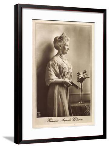 Kaiserin Auguste Viktoria, Npg 4510, Krone, Kette--Framed Art Print