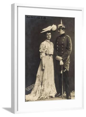 Prinz Eitel Friedrich V. Preußen Mit Frau, Rph 5310--Framed Art Print