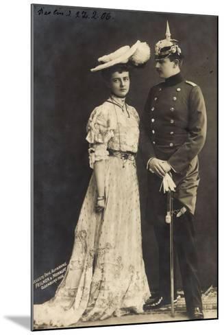 Prinz Eitel Friedrich V. Preußen Mit Frau, Rph 5310--Mounted Giclee Print