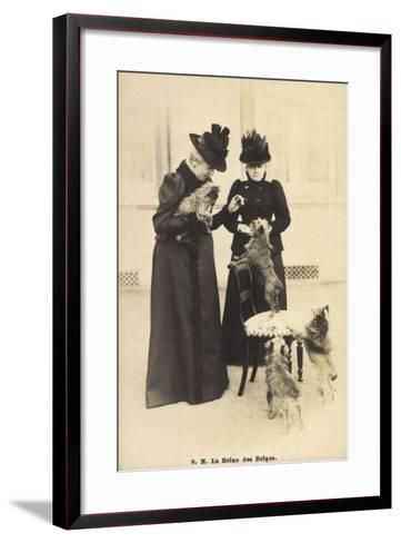 S.M. La Reine Des Belges, Yorkshire Terrier--Framed Art Print
