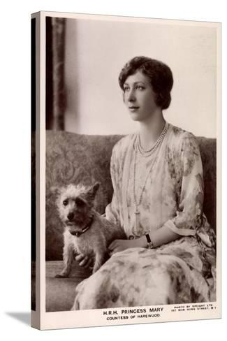 H.R.H. Princess Mary, Countess of Harewood, Terrier, Tuck--Stretched Canvas Print