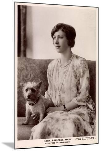 H.R.H. Princess Mary, Countess of Harewood, Terrier, Tuck--Mounted Giclee Print