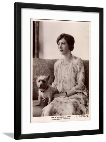 H.R.H. Princess Mary, Countess of Harewood, Terrier, Tuck--Framed Art Print